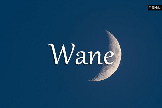 小词详解 | wane