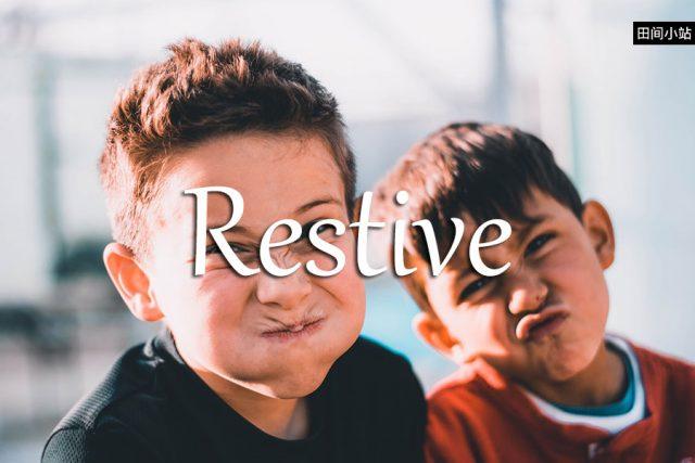 小词详解   restive