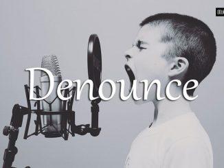 小词详解 | denounce