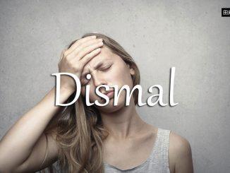 小词详解 | dismal