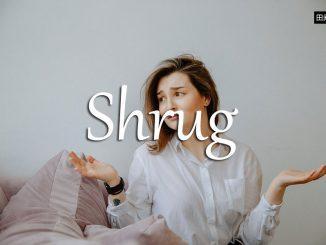 小词详解 | shrug