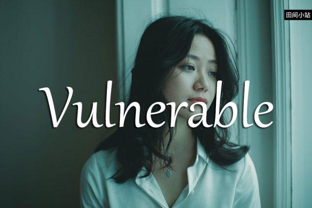 小词详解   vulnerable